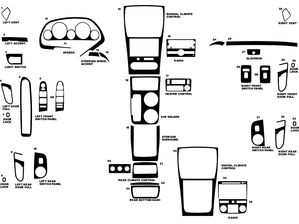 2010 gmc acadia dash kits