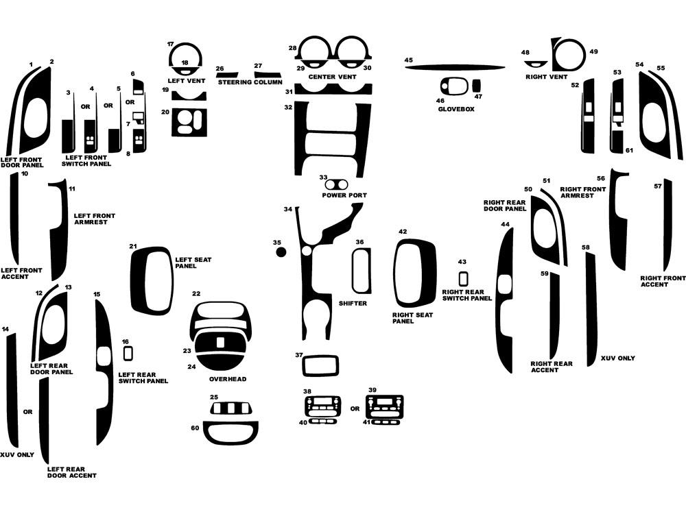 2005 isuzu ascender dash kits custom 2005 isuzu ascender. Black Bedroom Furniture Sets. Home Design Ideas