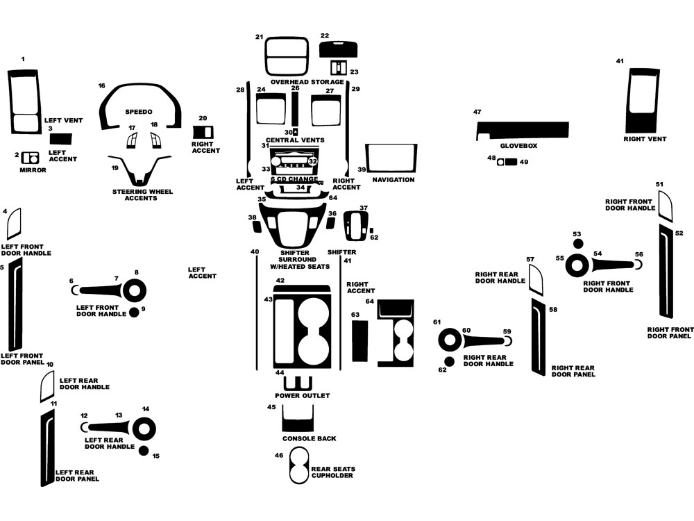 Honda CR-V 2010-2011 Dash Kit Diagram