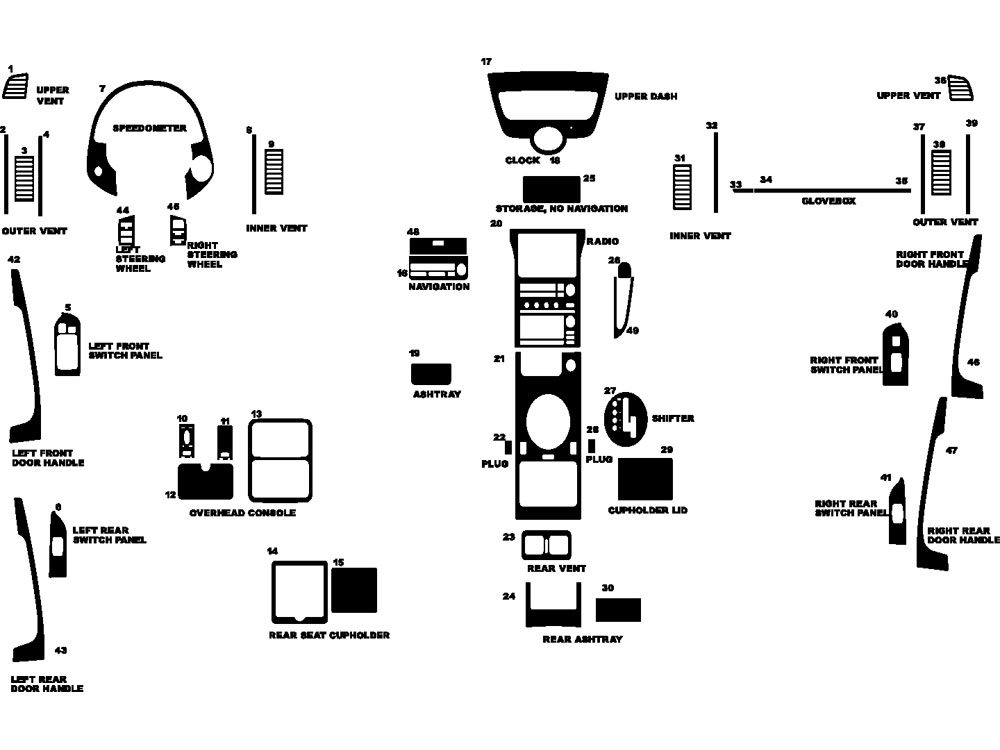 2003 infiniti g35 dash kits