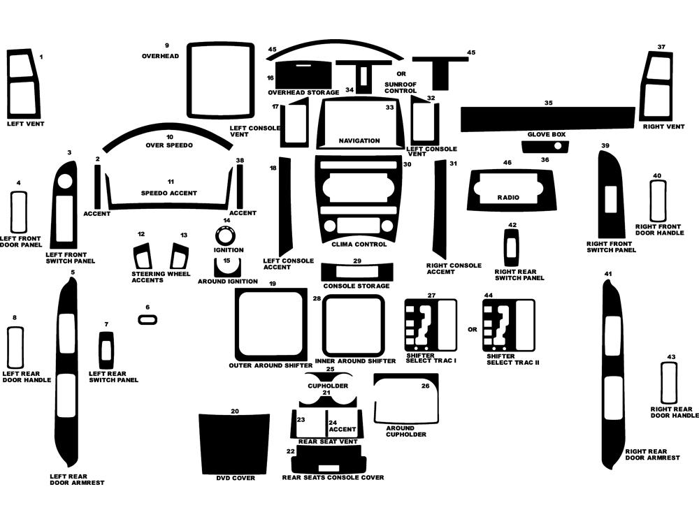2007 jeep grand cherokee dash kits