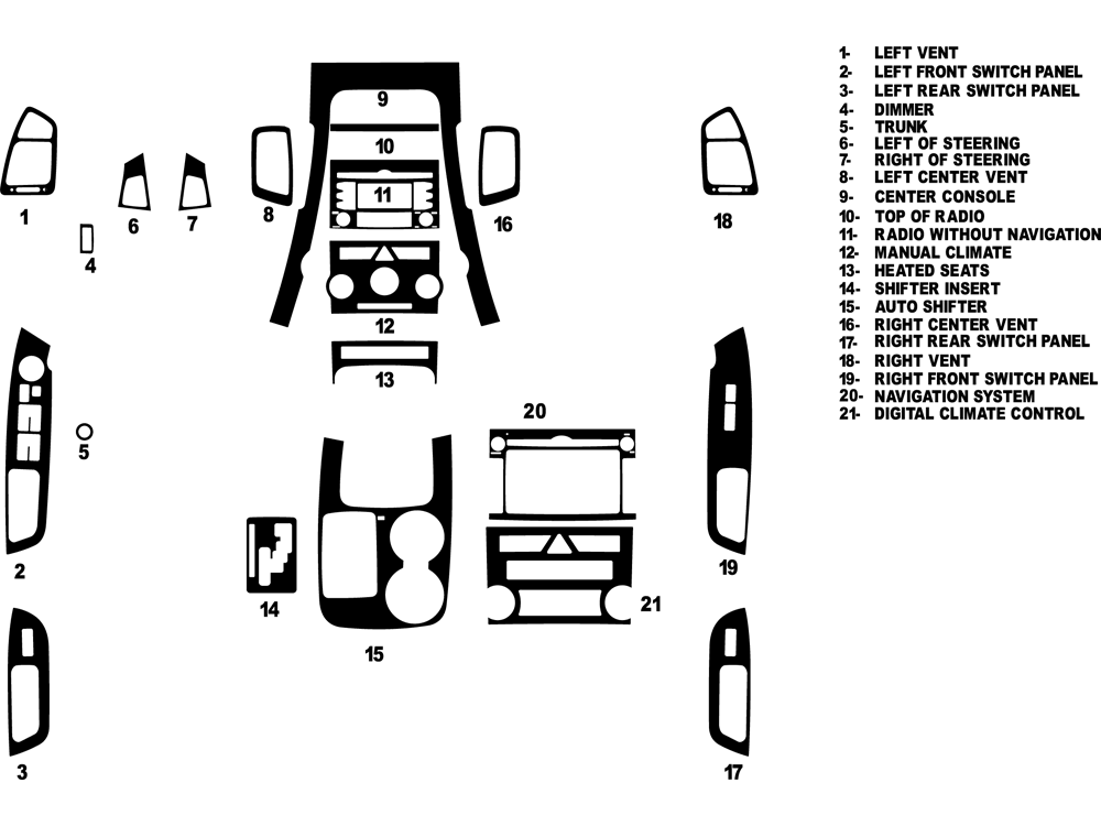 diagram 2012 kia sorento interior