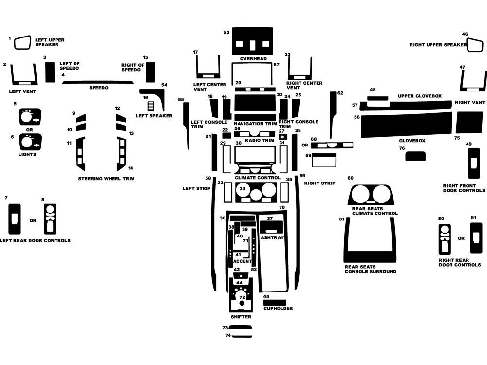 2008 land rover range rover sport dash kits