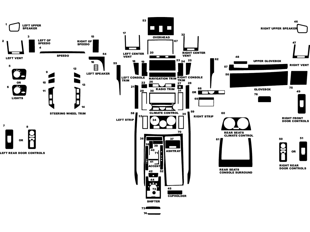 2006 land rover range rover sport dash kits