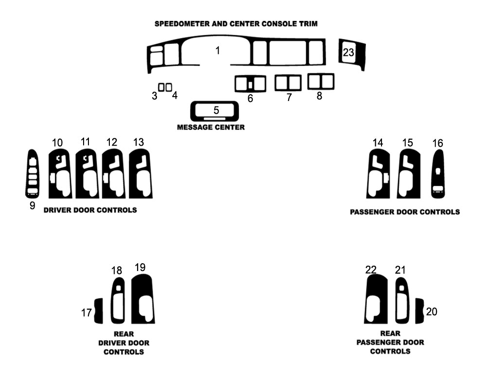 Lincoln Town Car 2003-2011 Dash Kit Diagram