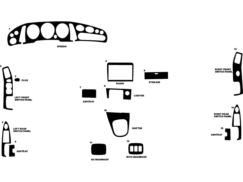 Mazda 929 1992-1996 Dash Kit Diagram