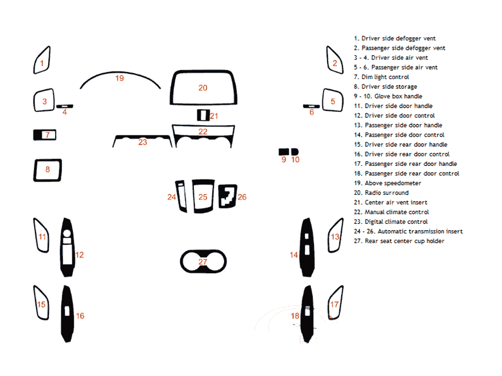 Mazda CX-5 2013-2015 Dash Kit Diagram