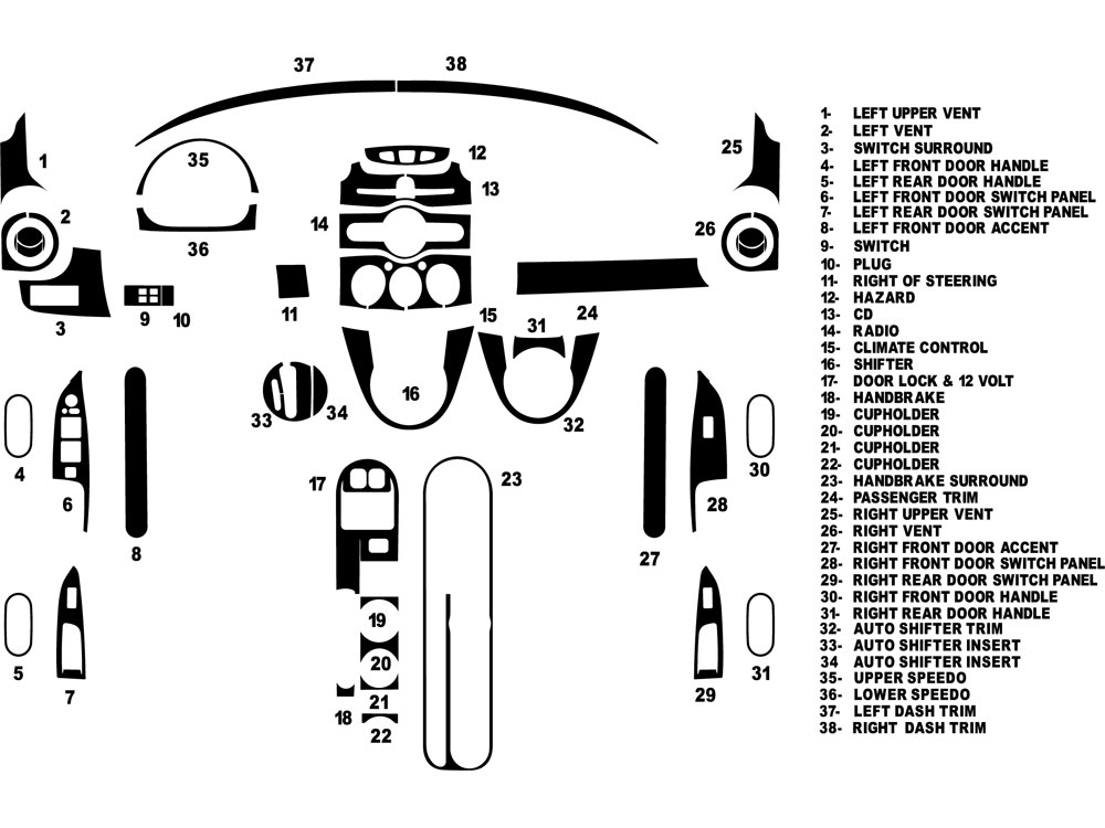 Mazda Mazda2 2011-2014 Dash Kit Diagram