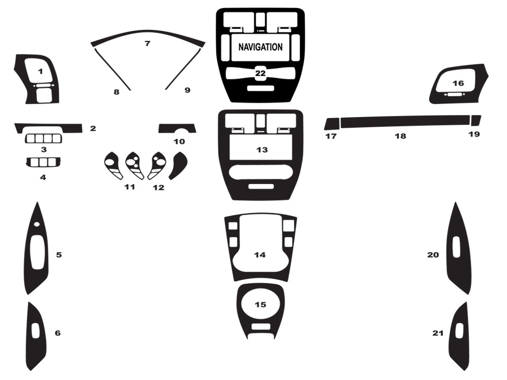Nissan Leaf 2013-2016 Dash Kit Diagram