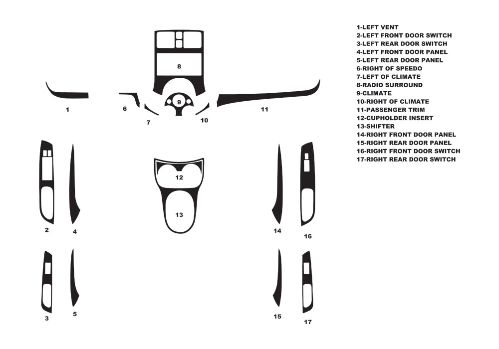 Nissan Versa 2009-2016 Dash Kit Diagram