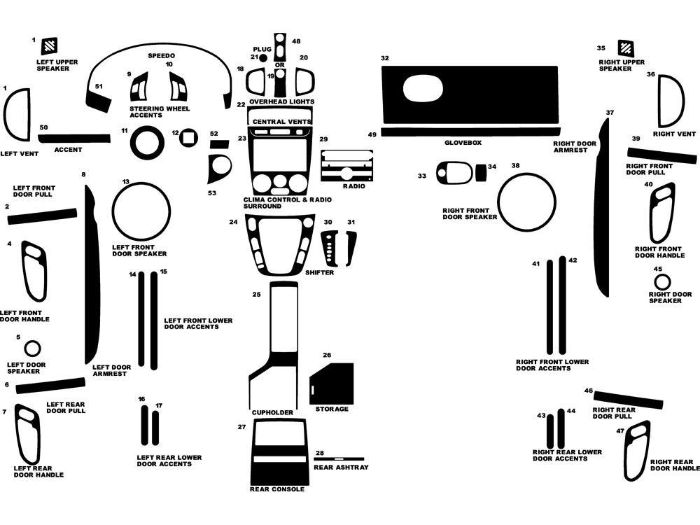 2006 saturn vue dash kits