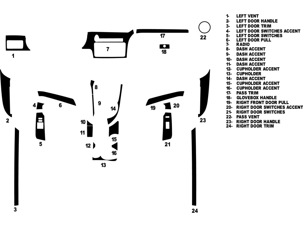 Scion tC 2011-2015 Dash Kit Diagram