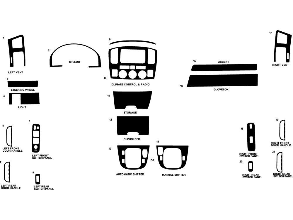 Suzuki Grand Vitara 2003-2005 Dash Kit Diagram