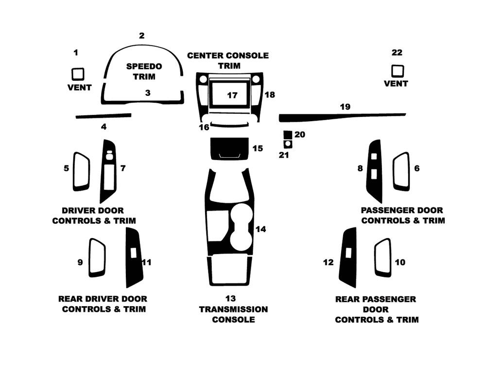 Toyota Camry 2015-2016 Dash Kit Diagram