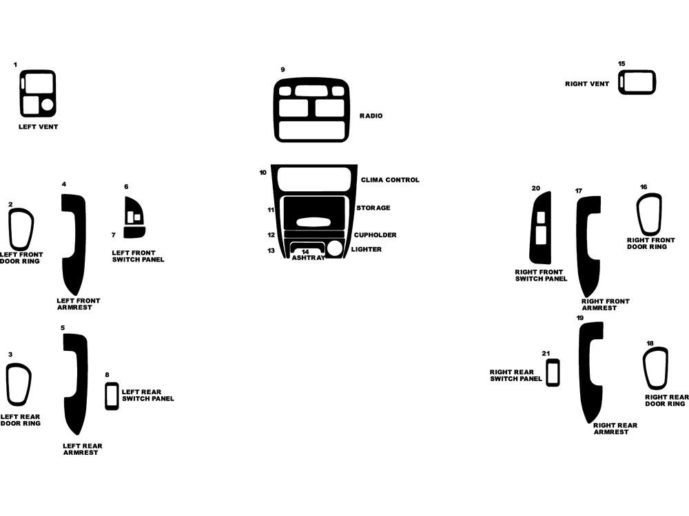 2002 toyota corolla dash kits
