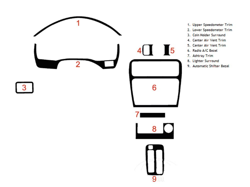 1997 Toyota Tercel Dash Kits Custom 1997 Toyota Tercel