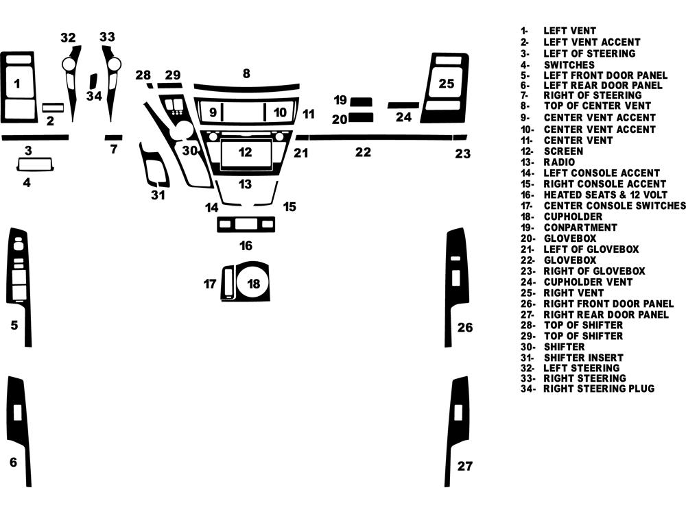 2014 toyota prius dash kits