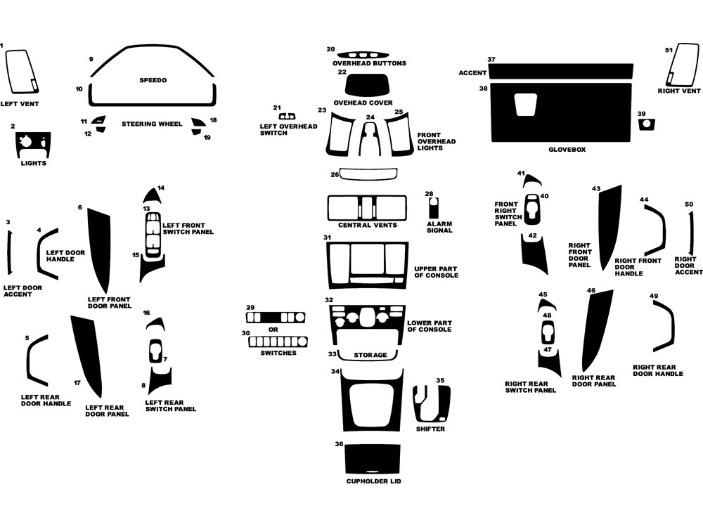 Volvo XC90 2003-2013 Dash Kit Diagram