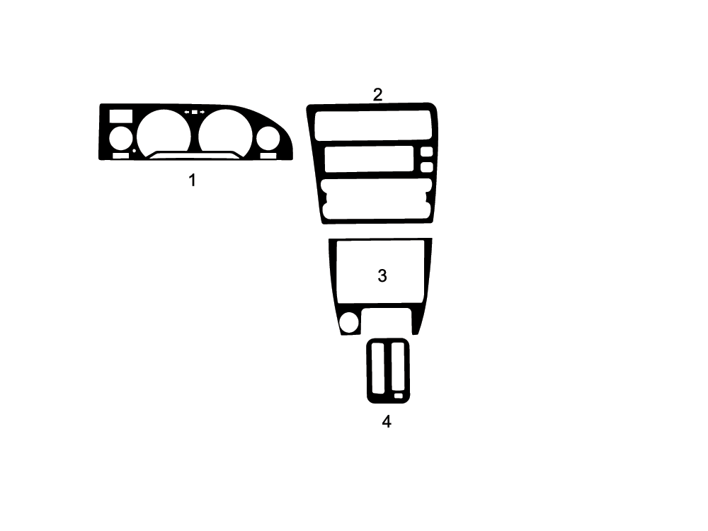 1988 - 1993 Toyota Corolla Dash Kit Diagram