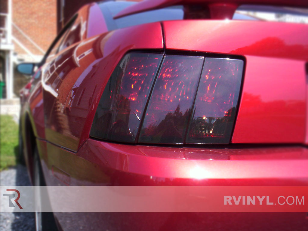 rtint ford mustang 1999 2004 tail light tint film. Black Bedroom Furniture Sets. Home Design Ideas