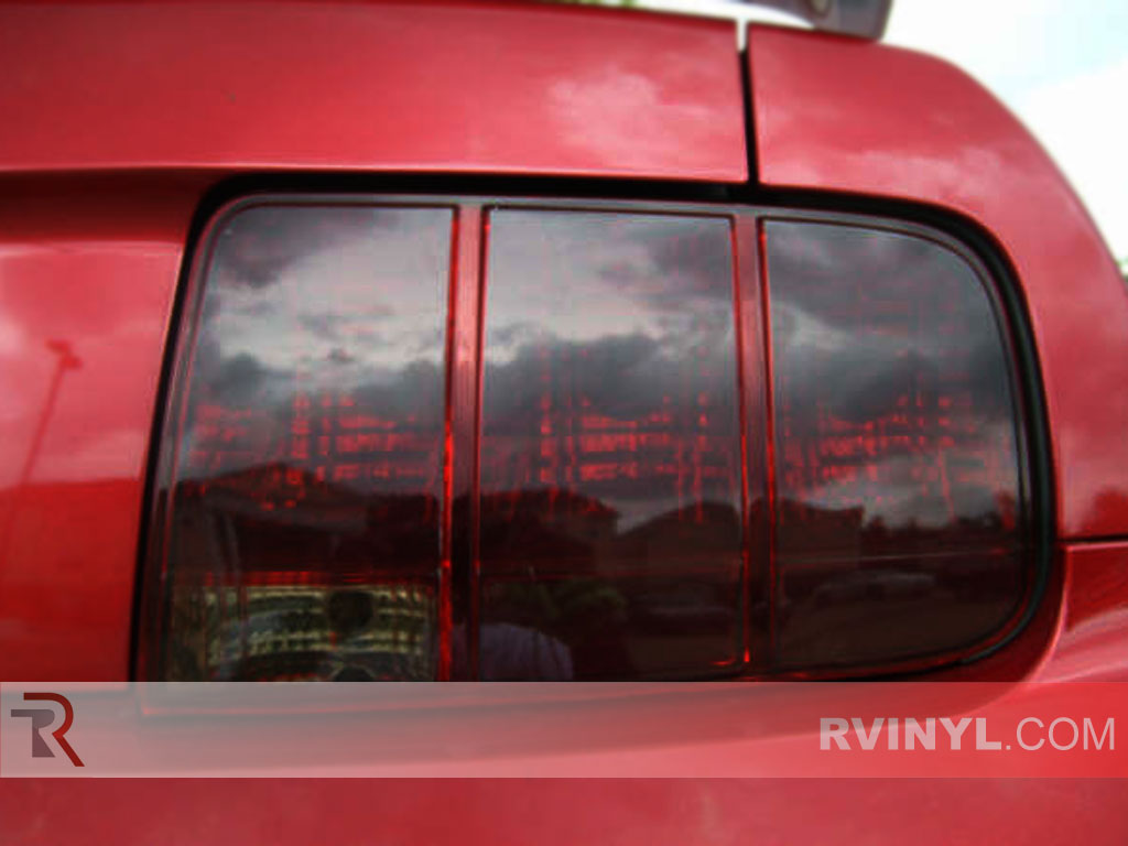 rtint ford mustang 2005 2009 tail light tint film. Black Bedroom Furniture Sets. Home Design Ideas