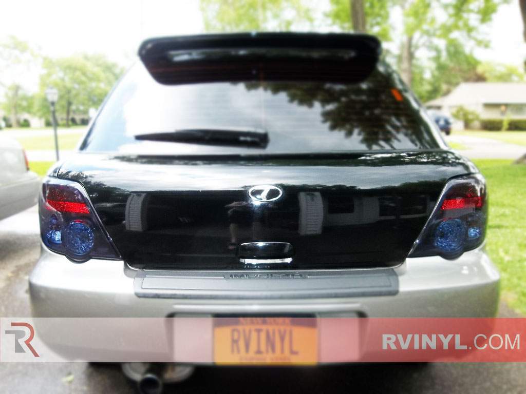 rtint subaru wrx sti 2004 2005 tail light tint film. Black Bedroom Furniture Sets. Home Design Ideas