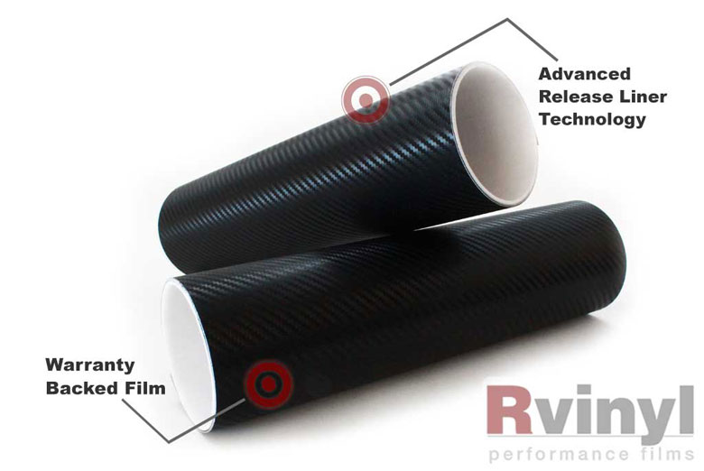 Black 3D Carbon Fiber Vinyl Sheets