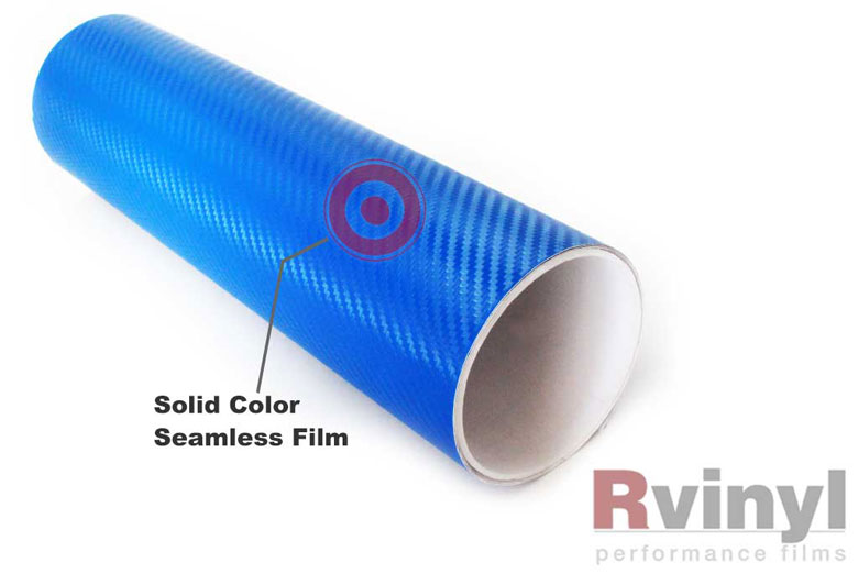 Blue 3D Carbon Fiber Wrapping Films