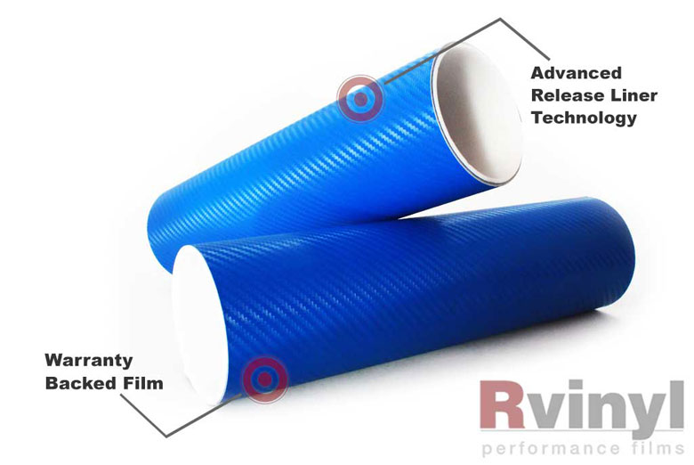 Blue 3D Carbon Fiber Decal Sheets