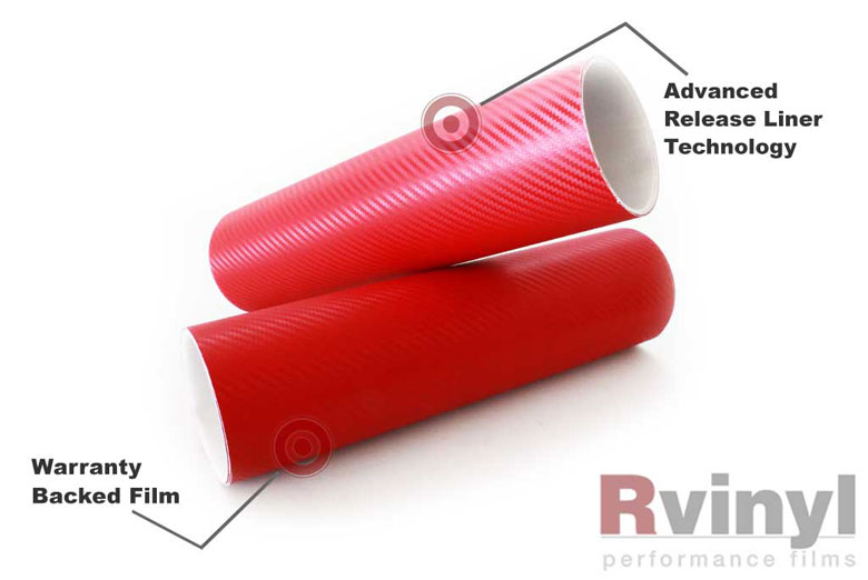 Red 3D Carbon Fiber Decal Sheets
