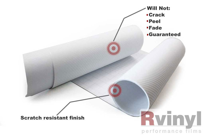 White 3D Carbon Fiber Decal Sheets
