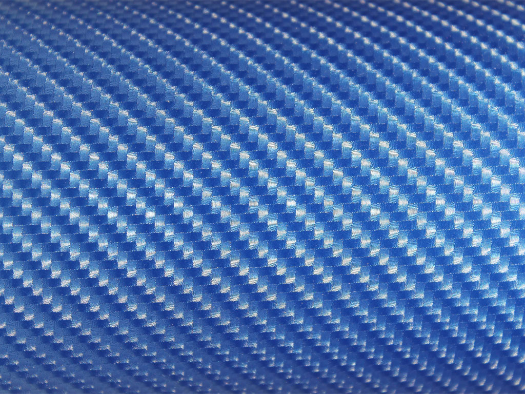 Rwraps Blue 4d Carbon Fiber Vinyl Wrap Car Wrap Film