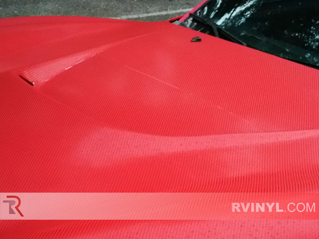 Rwraps Red 4d Carbon Fiber Vinyl Wrap Car Wrap Film