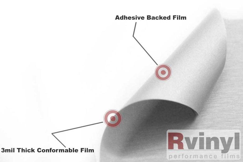 Rwraps Silver Brushed Aluminum Vinyl Wrap Car Wrap Film