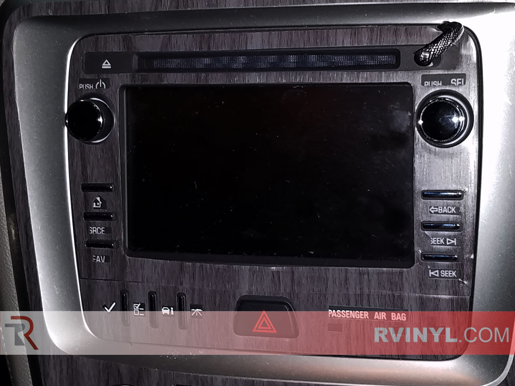 Radio Dash Kit Ebony Wood Vinyl