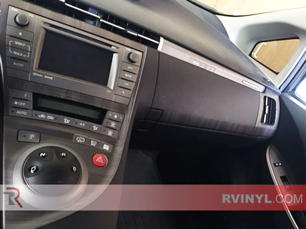 Ebony Wood Grain Prius Dash Wrap
