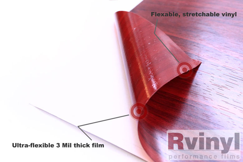 Mahogany Wood Grain Vinyl Wrap Film With Adhessive Backing