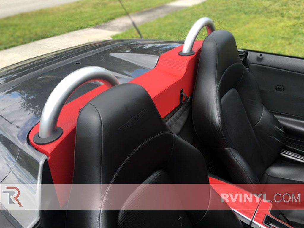 Red Carbon Fiber Crossfire Dash Wrap
