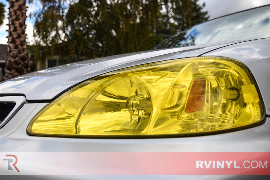 Jeffrey's Civic HX with SMoked Yellow Headlights & Purple Smoked Taiilights
