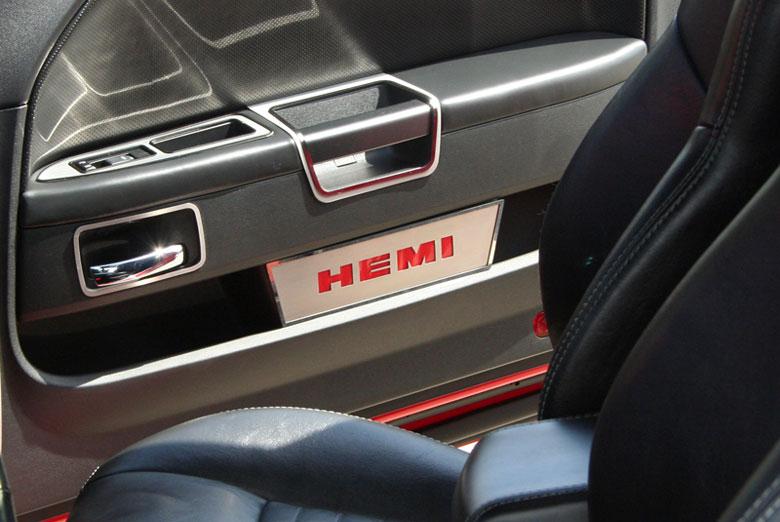 American Car Craft Dodge Challenger 2008 2013 Door Badge Trim With Hemi Brushed