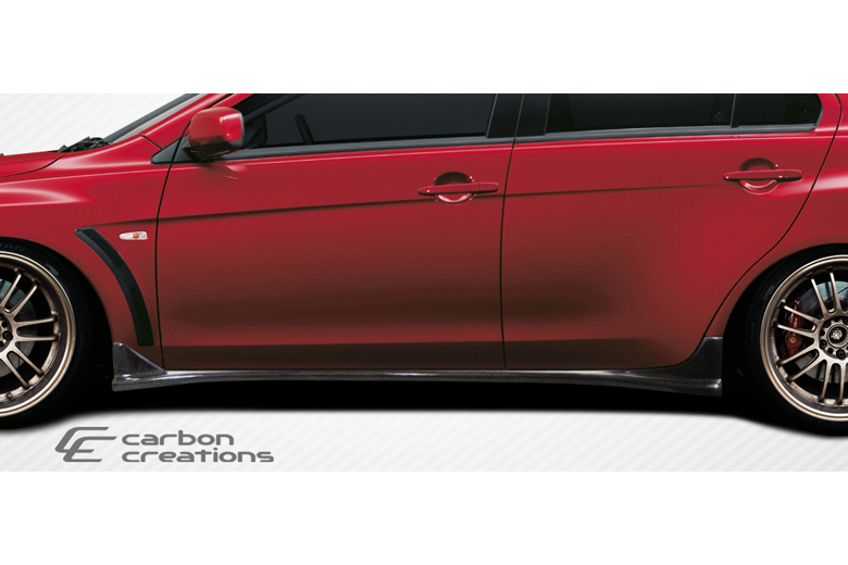 2012 Mitsubishi Evolution Carbon Creations RS Look Sideskirts