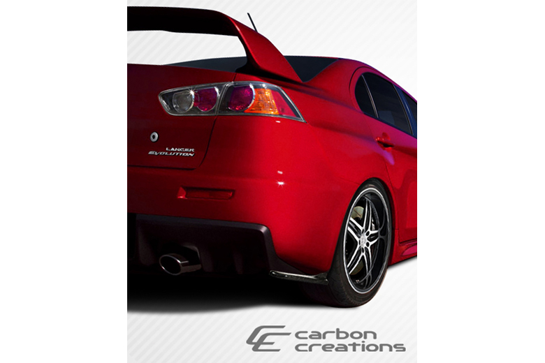 2012 Mitsubishi Evolution Carbon Creations RS Look Rear Lip (Add On)