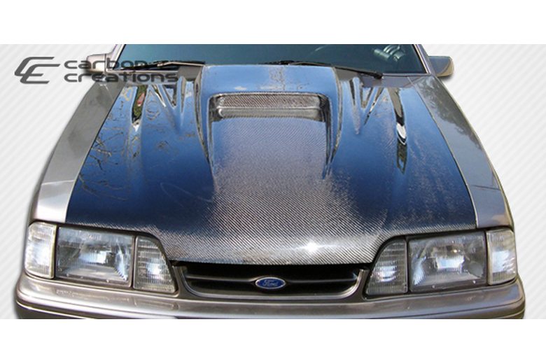1990 Ford Mustang Carbon Creations Spyder 3 Hood