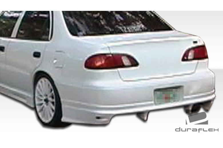 Duraflex toyota corolla 1998 2002 bomber rear bumper for 1998 toyota corolla window motor replacement