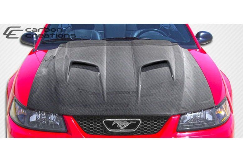 2001 Ford Mustang Carbon Creations Mach 2 Hood