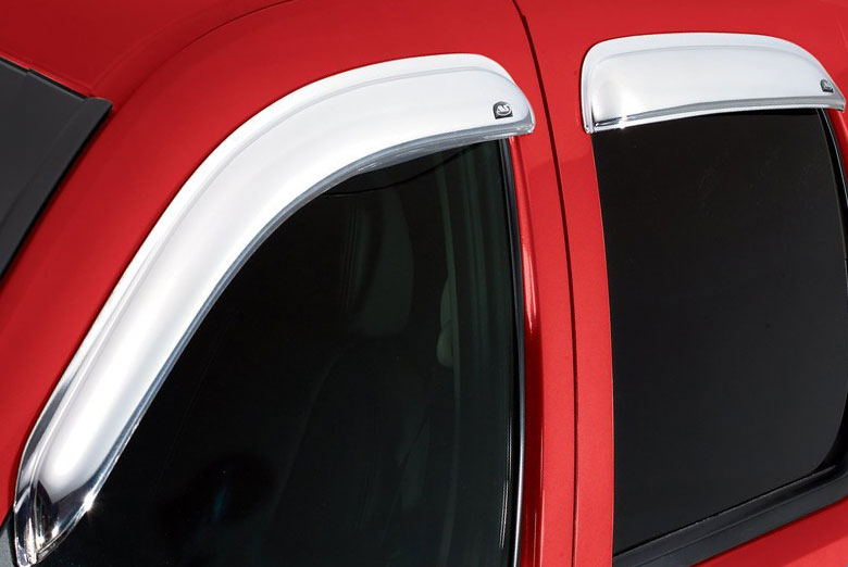 AVS Ventvisor Chrome Window Visor Wind Deflectors (Regular Cab)