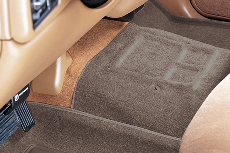 Catch-All Beige Center Hump Floor Mats W/ Front Bench Seats W/O Floor Shifter