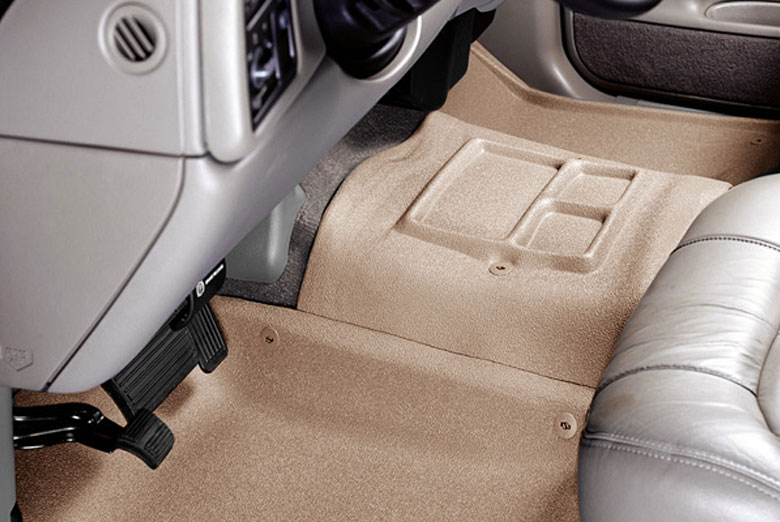 2000 Chevrolet CK Catch-All Xtreme Tan Center Hump Floor Mats W/ Center Console W/O 4WD Floor Shifter