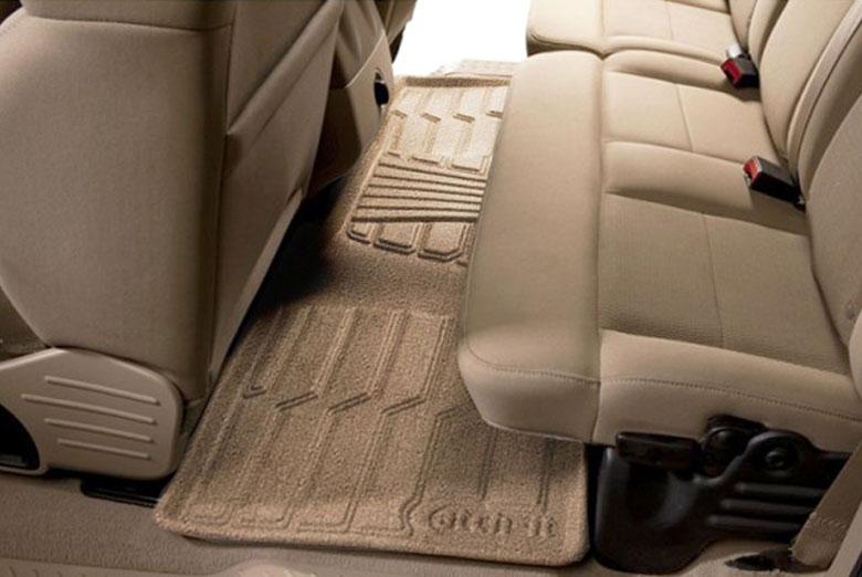 2011 Saturn Outlook Catch-It Tan Carpet Rear Floor Mats