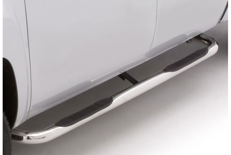 "2013 Nissan  Titan 3"" Curved Stainless Steel Round Side Steps (Crew Cab)"